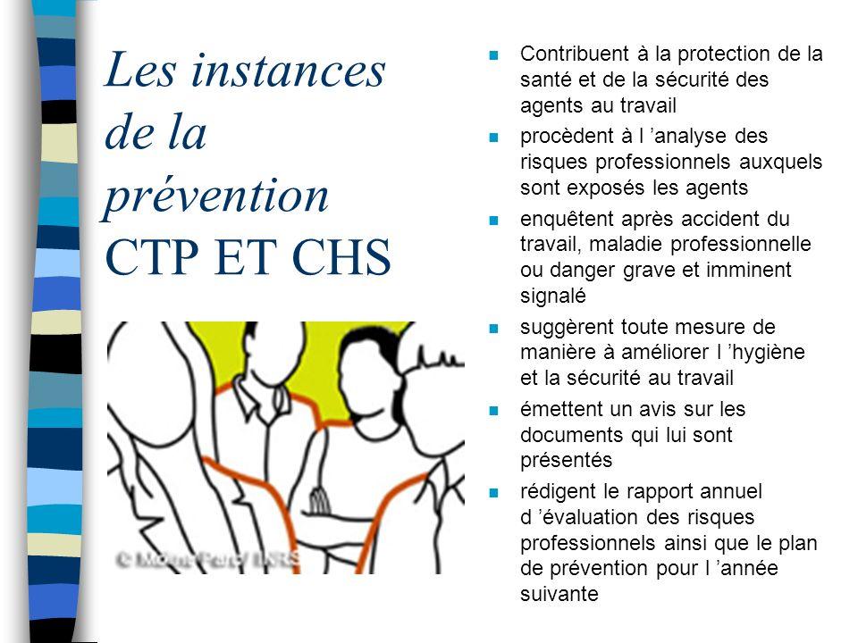 Les instances de la prévention CTP ET CHS