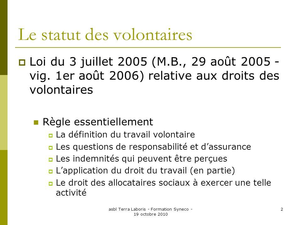 Le statut des volontaires