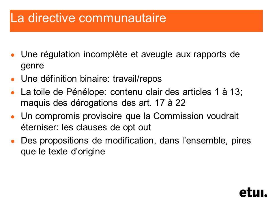 La directive communautaire