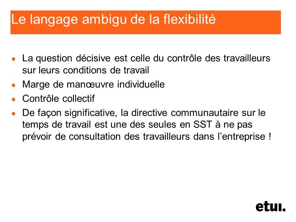 Le langage ambigu de la flexibilité
