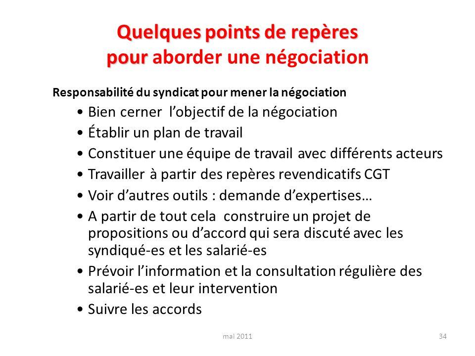 Quelques points de repères pour aborder une négociation