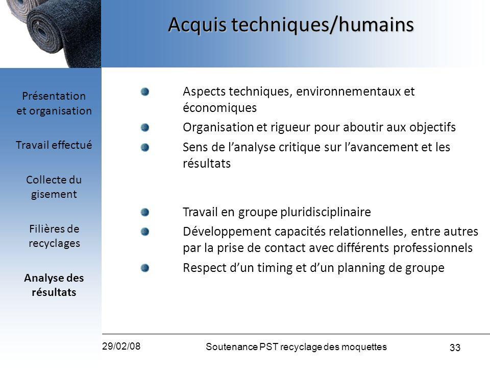 Acquis techniques/humains