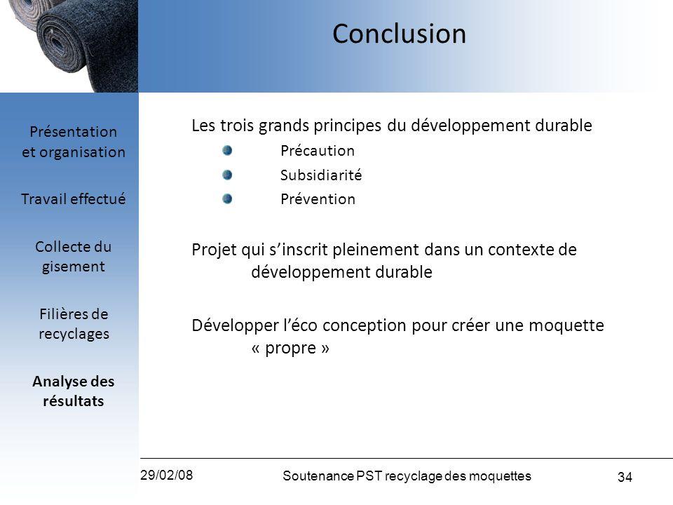 Conclusion Les trois grands principes du développement durable