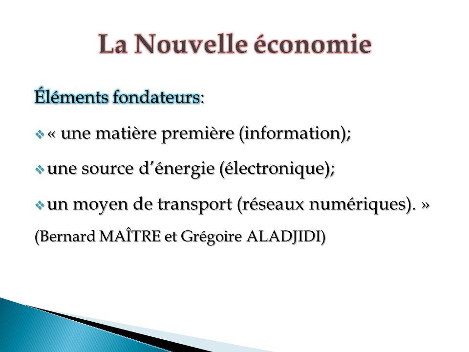 La Nouvelle économie Éléments fondateurs: