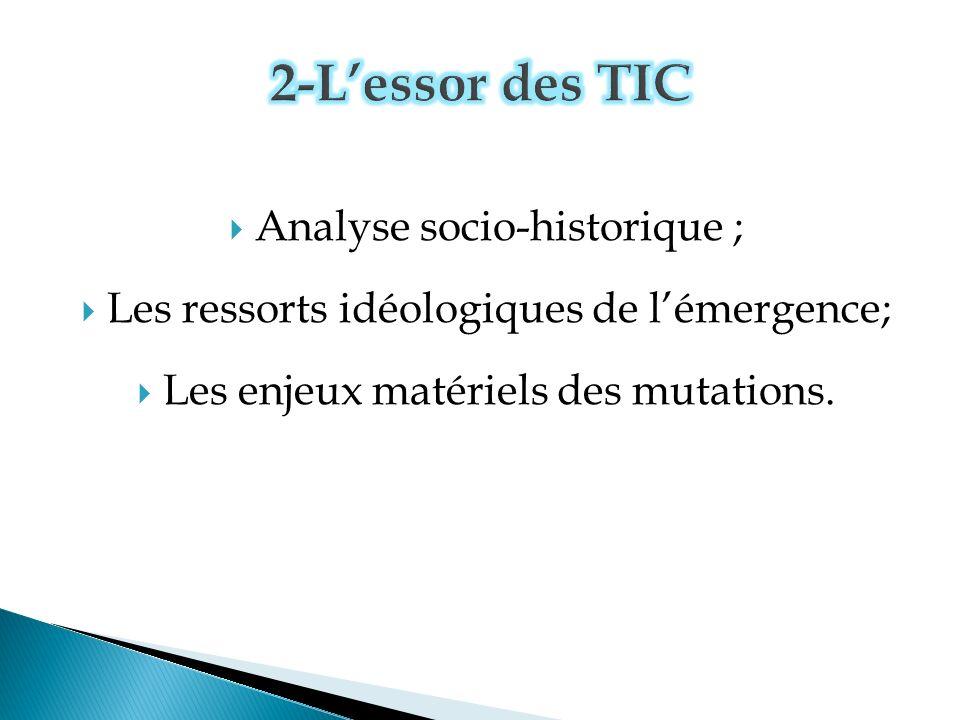 2-L'essor des TIC Analyse socio-historique ;