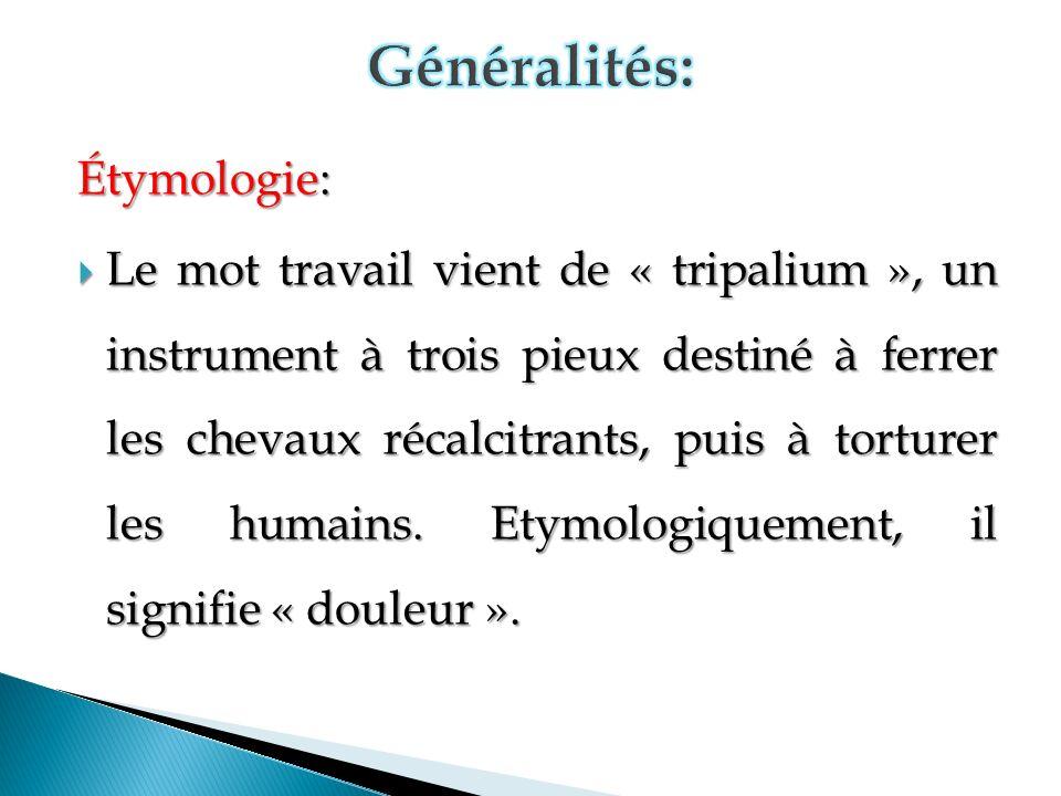 Généralités: Étymologie: