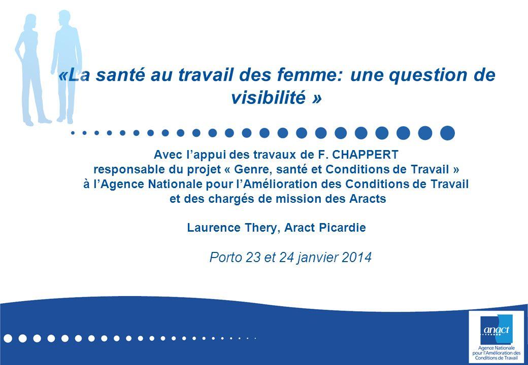 «La santé au travail des femme: une question de visibilité » Avec l'appui des travaux de F. CHAPPERT responsable du projet « Genre, santé et Conditions de Travail » à l'Agence Nationale pour l'Amélioration des Conditions de Travail et des chargés de mission des Aracts Laurence Thery, Aract Picardie