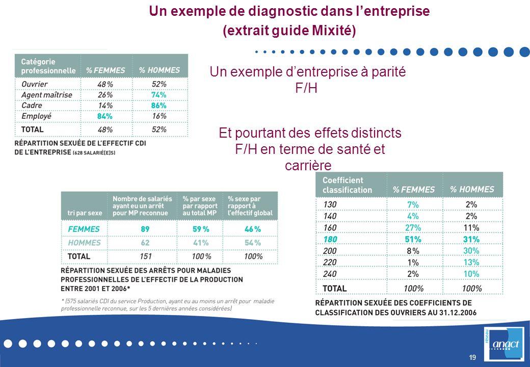 Un exemple de diagnostic dans l'entreprise (extrait guide Mixité)