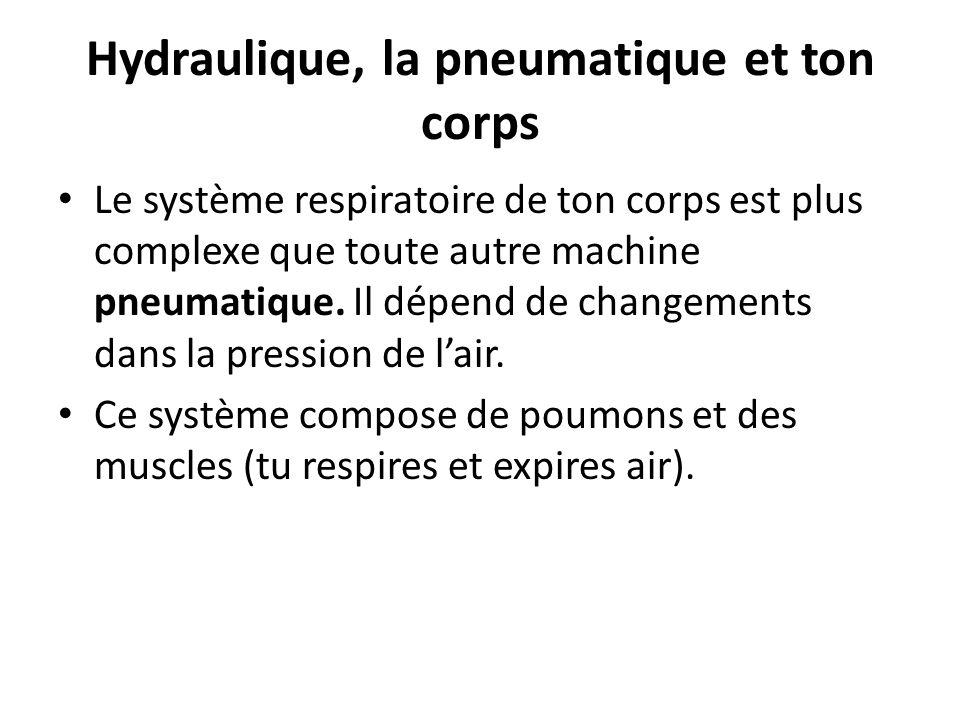 Hydraulique, la pneumatique et ton corps