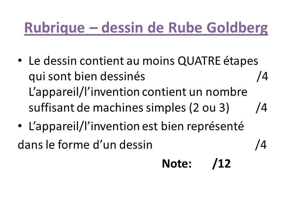 Rubrique – dessin de Rube Goldberg
