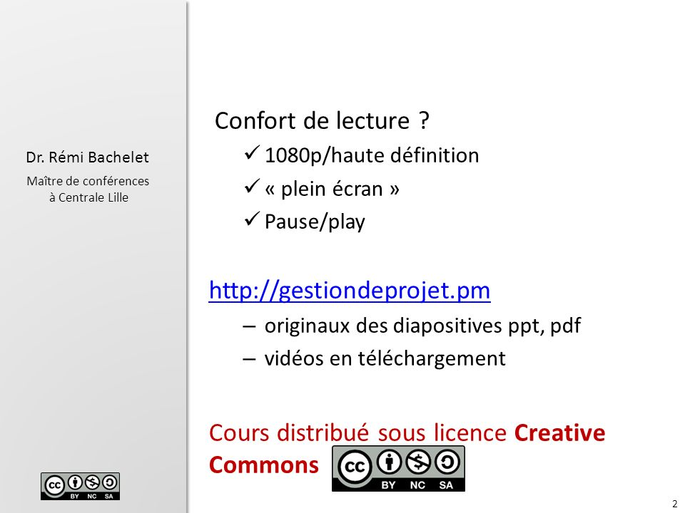 Cours distribué sous licence Creative Commons