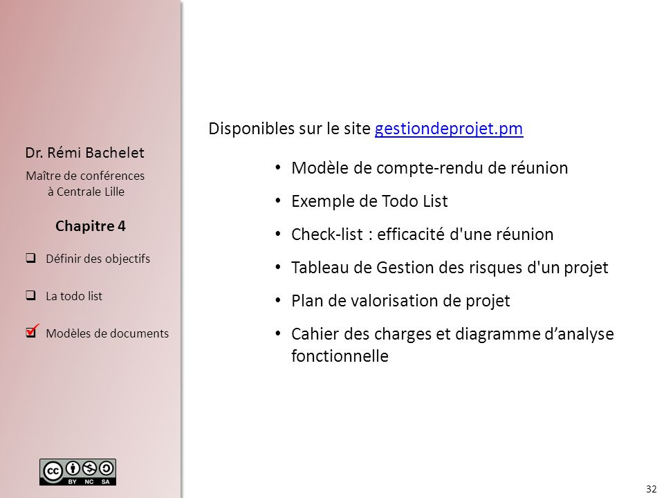 Disponibles sur le site gestiondeprojet.pm