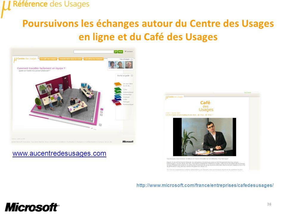 Poursuivons les échanges autour du Centre des Usages en ligne et du Café des Usages