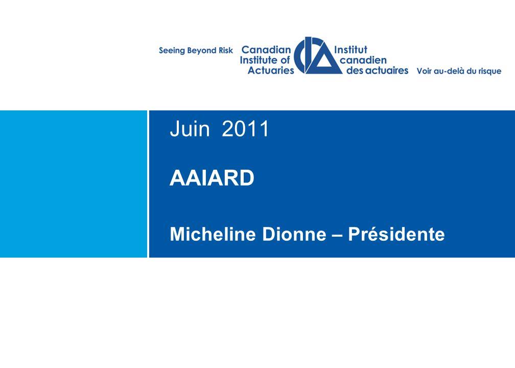Ordre du jour L'ICA et ses priorités pour 2010-2015