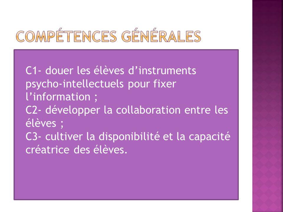 COMPÉTENCES GÉNÉRALES