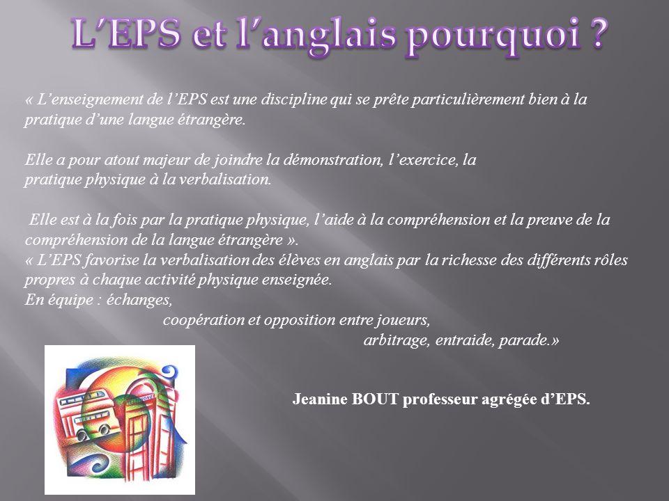 L'EPS et l'anglais pourquoi