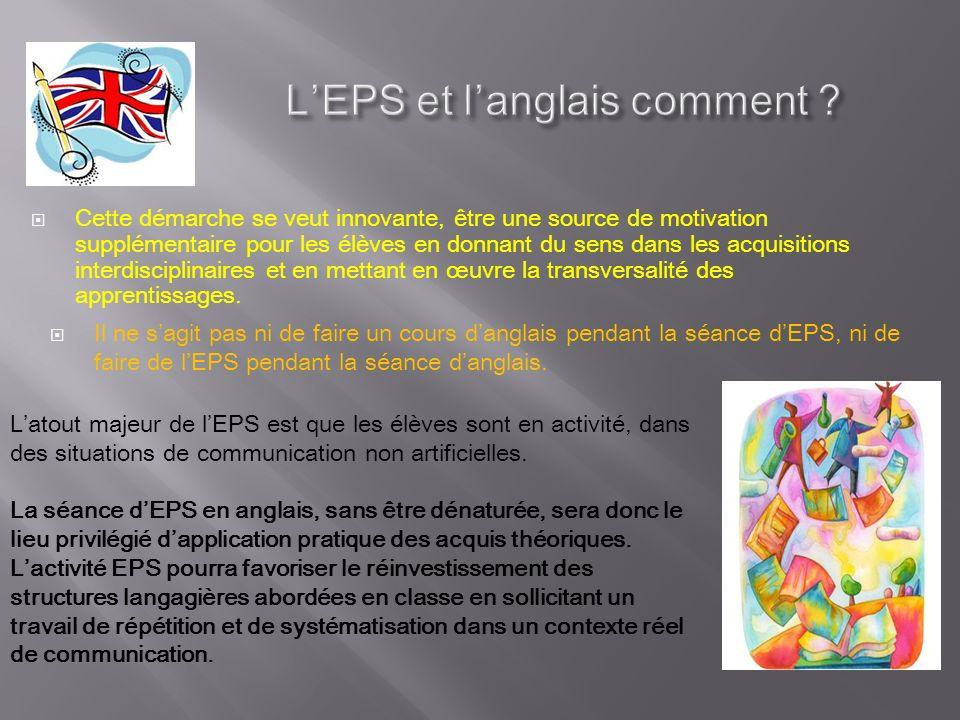L'EPS et l'anglais comment