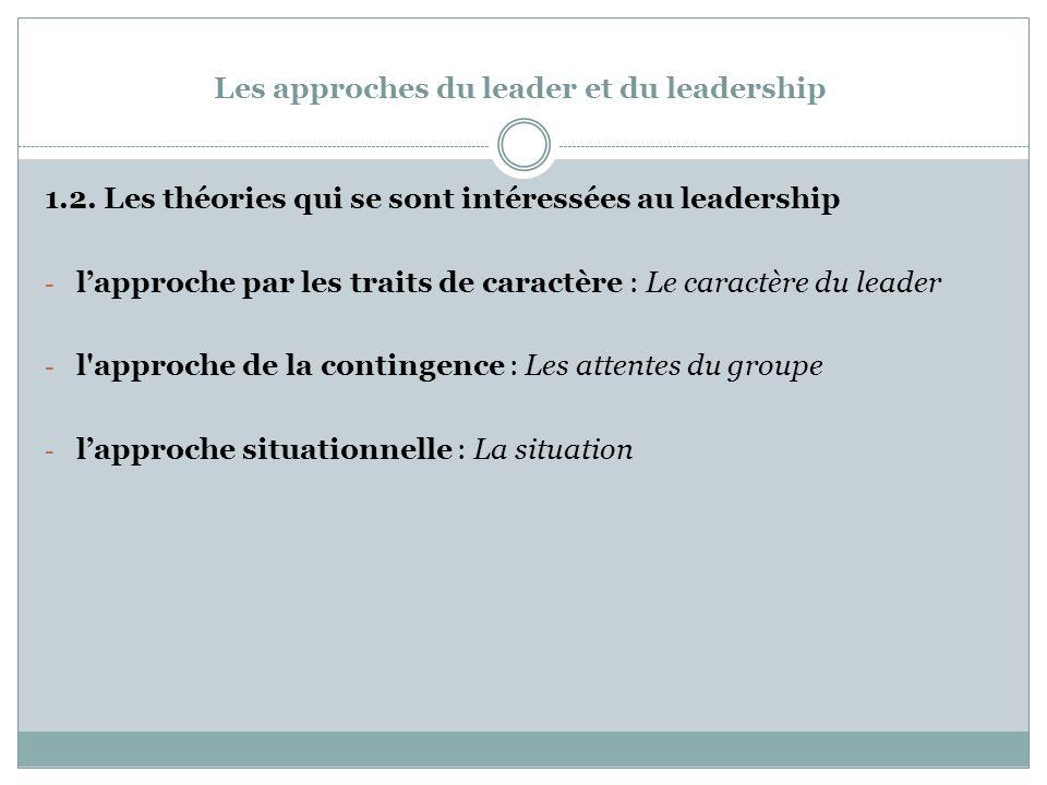 Les approches du leader et du leadership