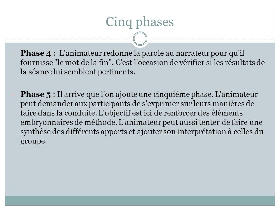 Cinq phases