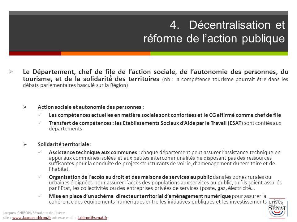4. Décentralisation et réforme de l'action publique