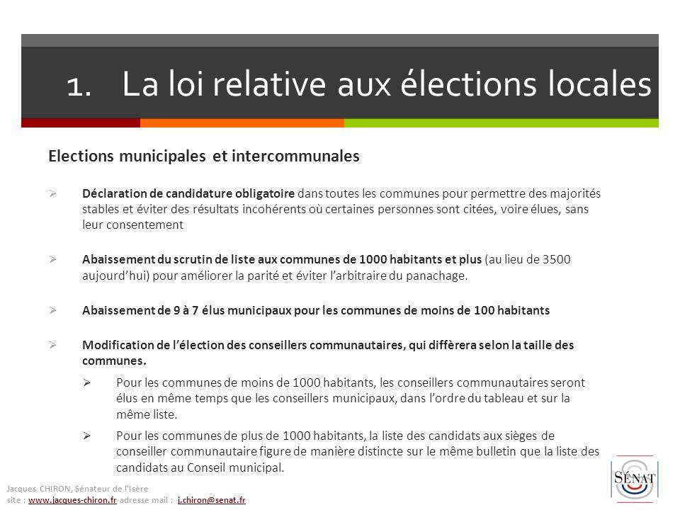 La loi relative aux élections locales