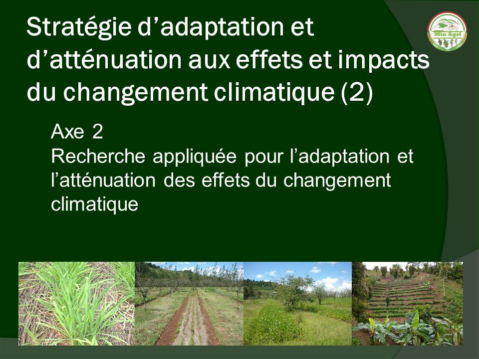 Stratégie d'adaptation et d'atténuation aux effets et impacts du changement climatique (2)