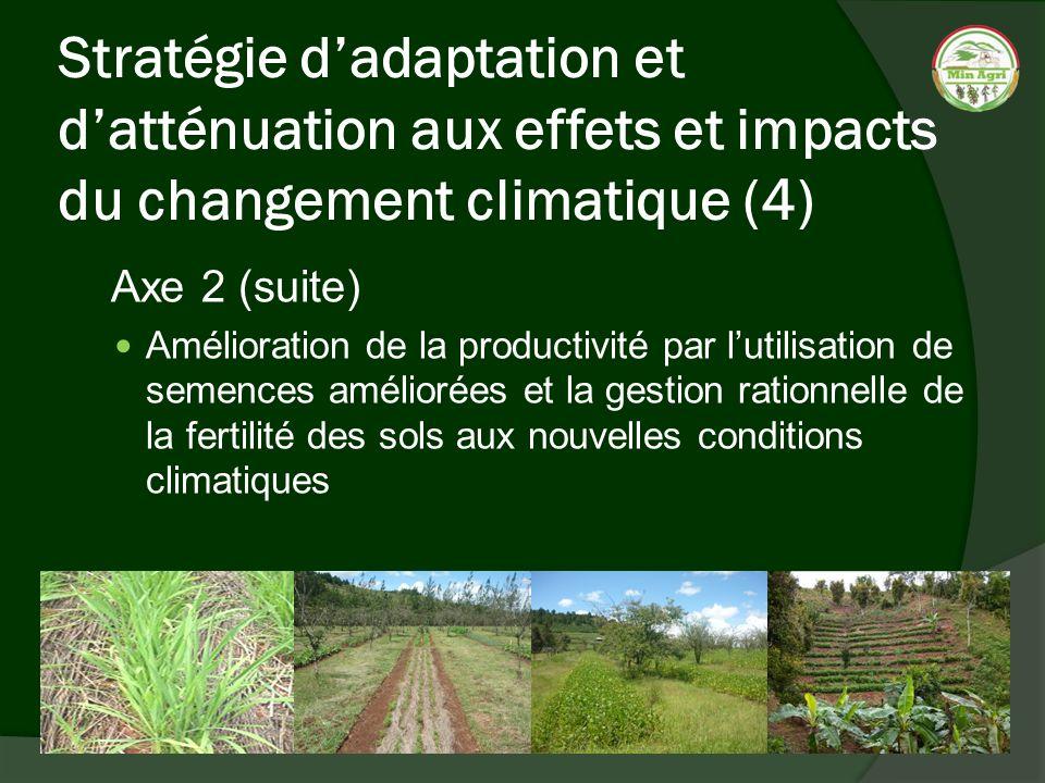 Stratégie d'adaptation et d'atténuation aux effets et impacts du changement climatique (4)
