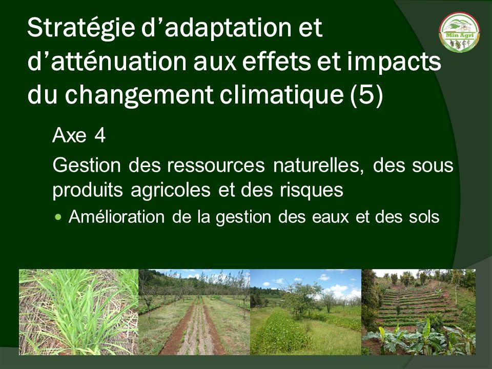 Stratégie d'adaptation et d'atténuation aux effets et impacts du changement climatique (5)