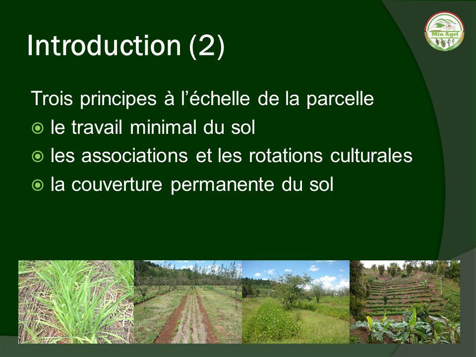Introduction (2) Trois principes à l'échelle de la parcelle