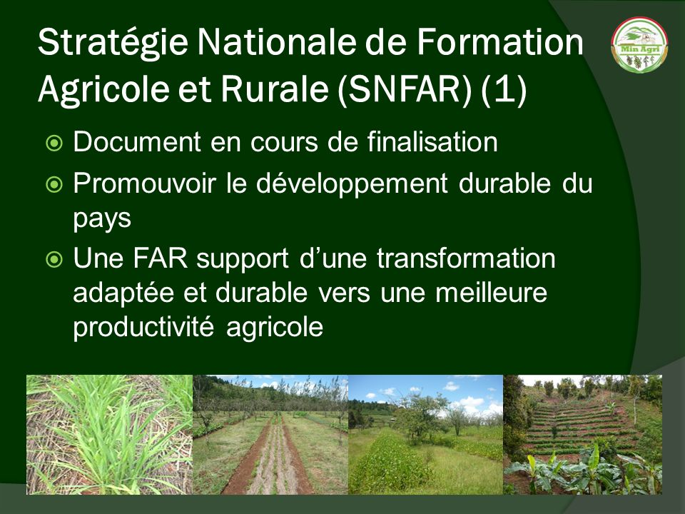 Stratégie Nationale de Formation Agricole et Rurale (SNFAR) (1)