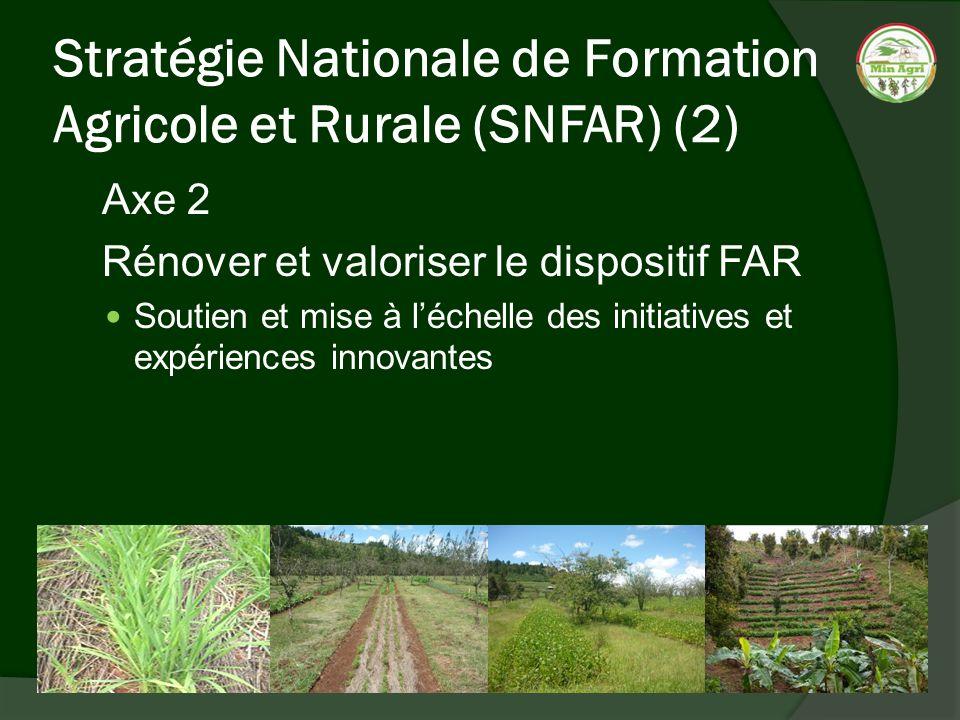 Stratégie Nationale de Formation Agricole et Rurale (SNFAR) (2)