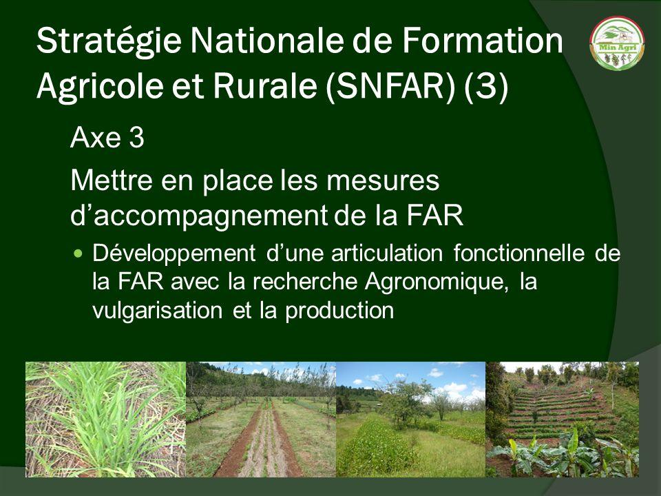 Stratégie Nationale de Formation Agricole et Rurale (SNFAR) (3)