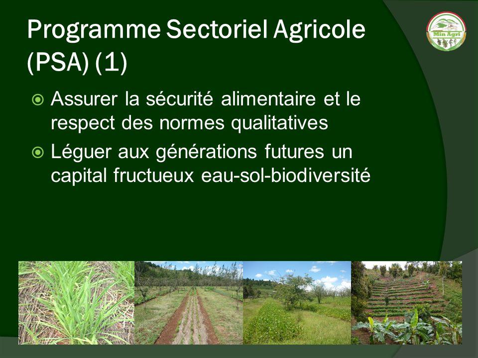 Programme Sectoriel Agricole (PSA) (1)