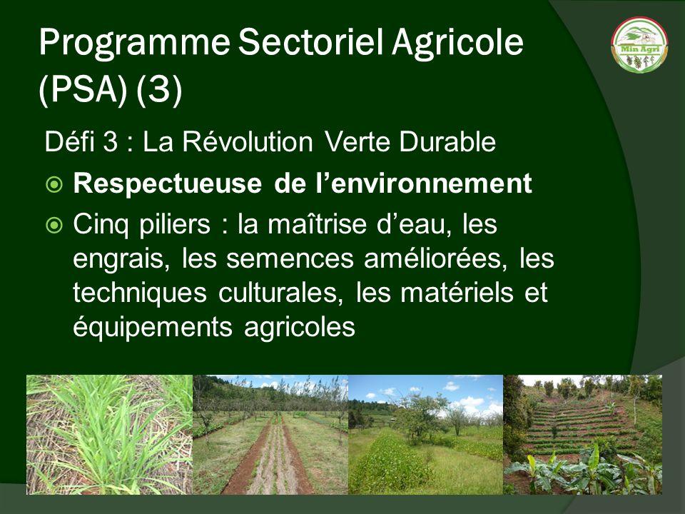 Programme Sectoriel Agricole (PSA) (3)