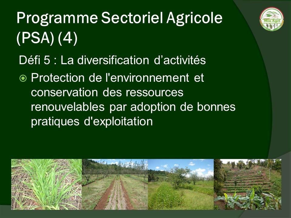 Programme Sectoriel Agricole (PSA) (4)