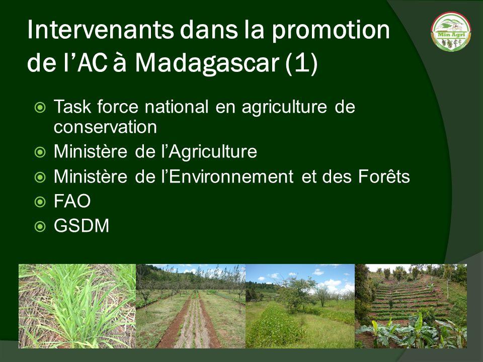 Intervenants dans la promotion de l'AC à Madagascar (1)
