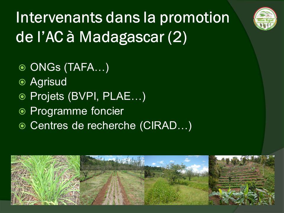 Intervenants dans la promotion de l'AC à Madagascar (2)