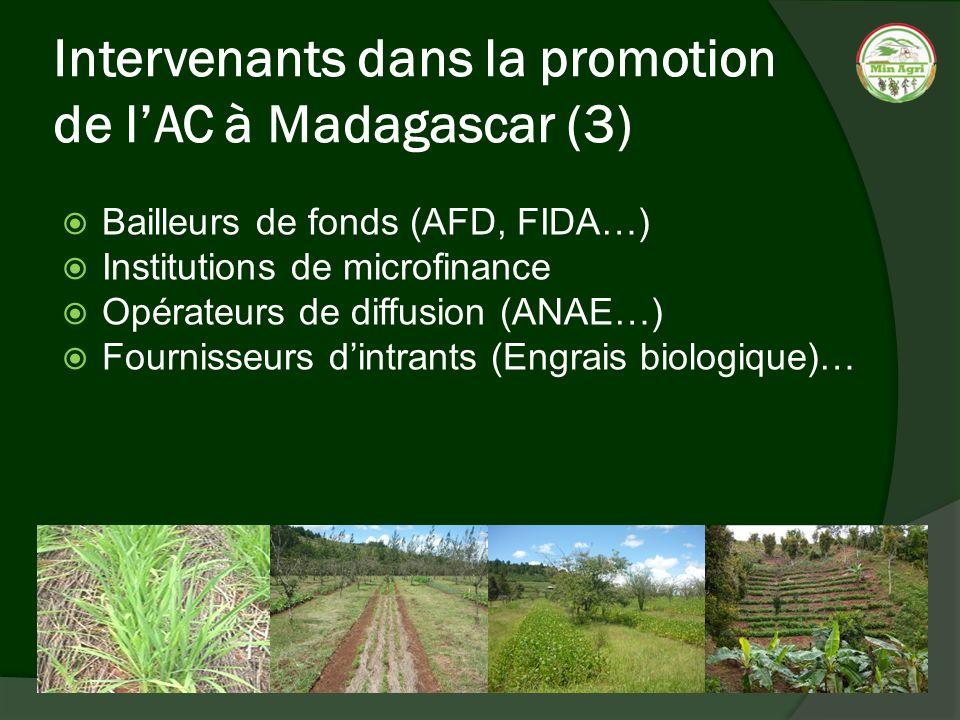 Intervenants dans la promotion de l'AC à Madagascar (3)