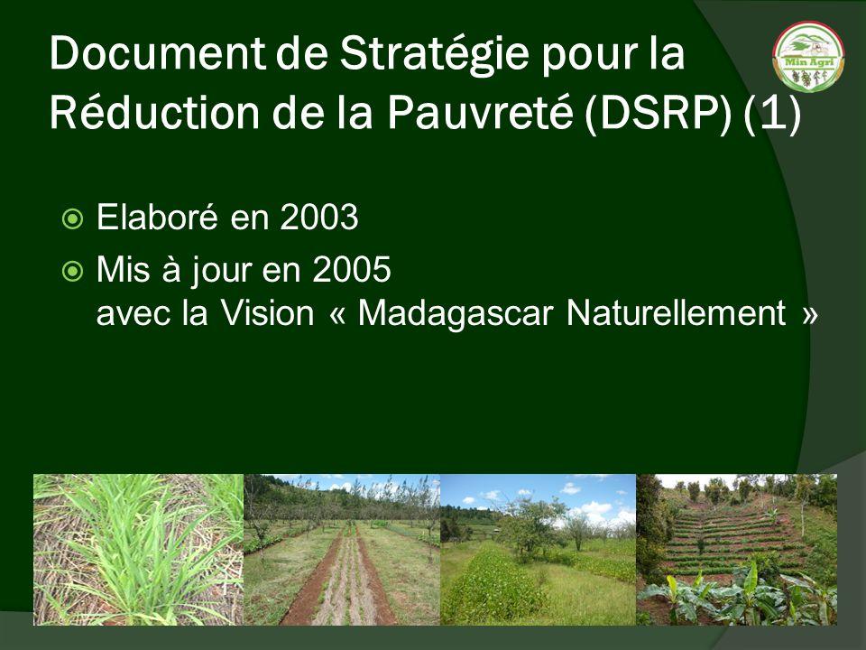 Document de Stratégie pour la Réduction de la Pauvreté (DSRP) (1)