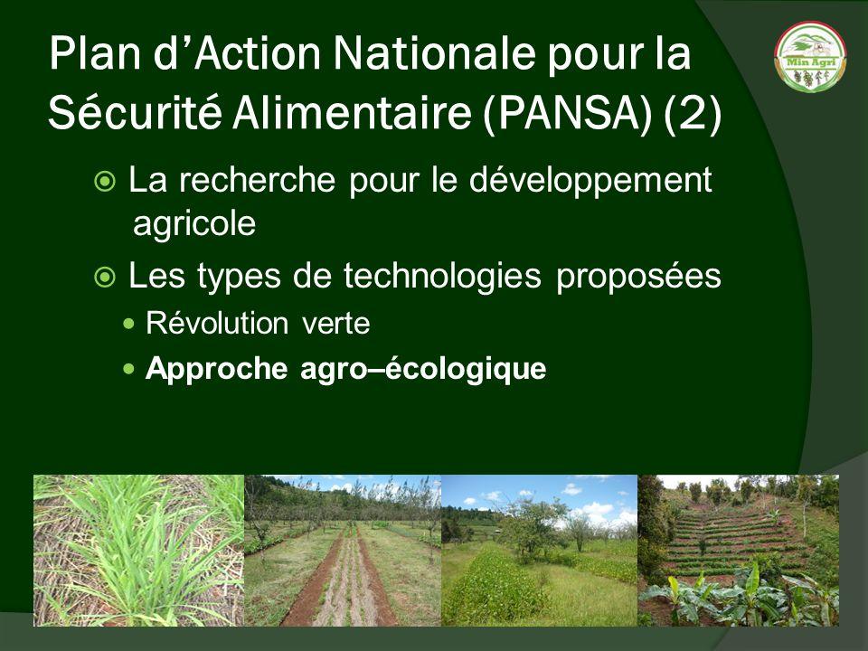 Plan d'Action Nationale pour la Sécurité Alimentaire (PANSA) (2)