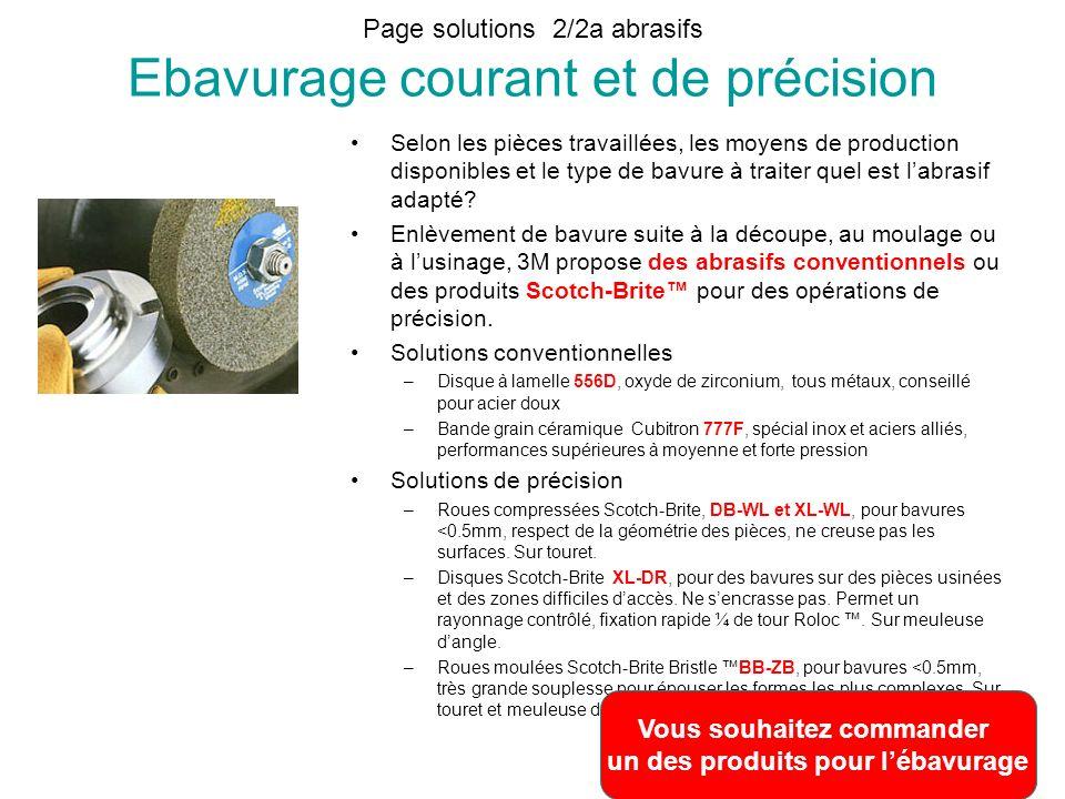 Page solutions 2/2a abrasifs Ebavurage courant et de précision