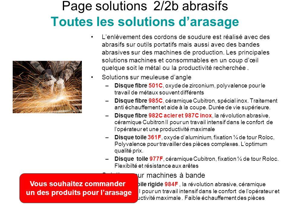 Page solutions 2/2b abrasifs Toutes les solutions d'arasage