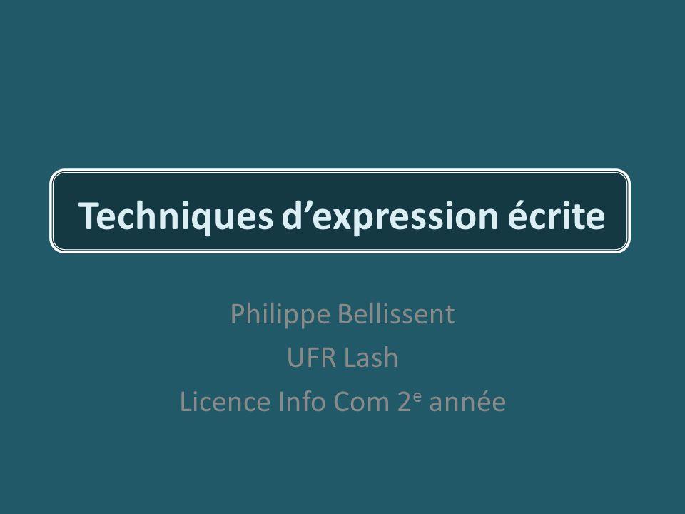 Techniques d'expression écrite