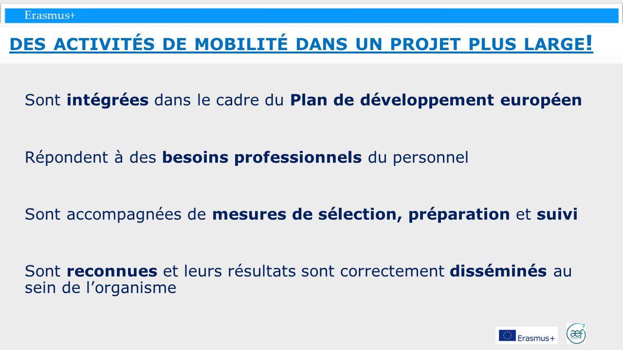 des activités de mobilité dans un projet plus large!
