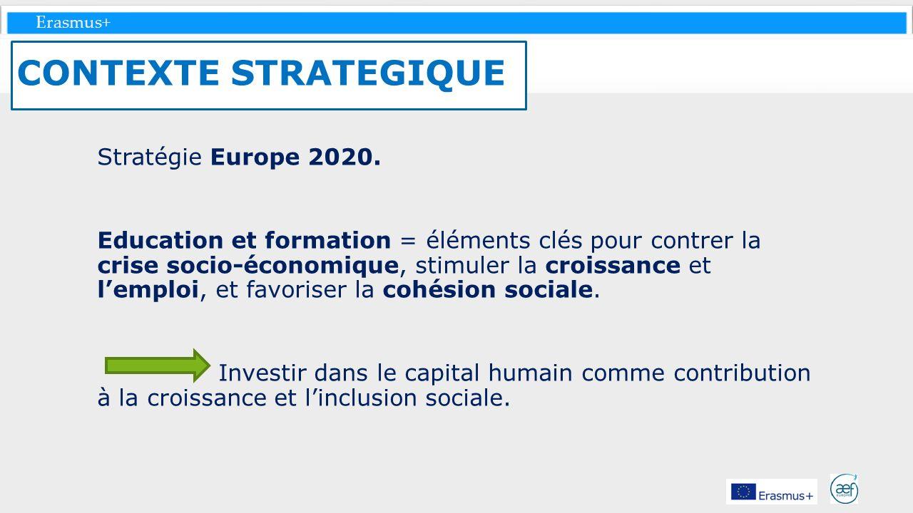 CONTEXTE STRATEGIQUE Stratégie Europe 2020.