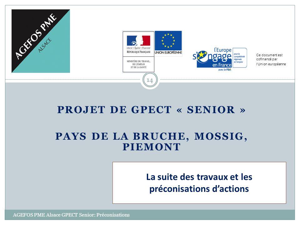 PROJET DE GPECT « SENIOR » PAYS DE LA BRUCHE, MOSSIG, PIEMONT