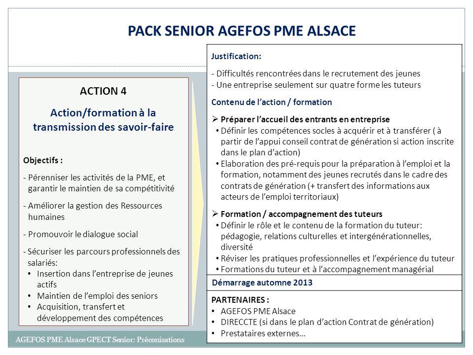 PACK SENIOR AGEFOS PME ALSACE transmission des savoir-faire
