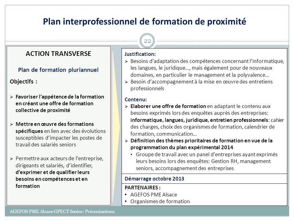 Plan interprofessionnel de formation de proximité