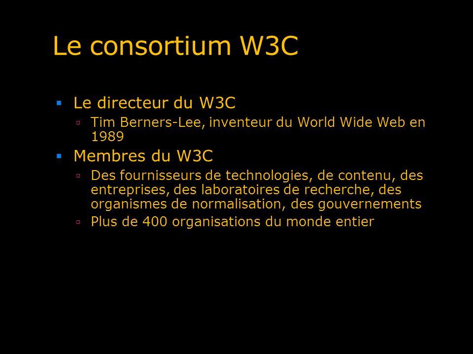 Le consortium W3C Le directeur du W3C Membres du W3C