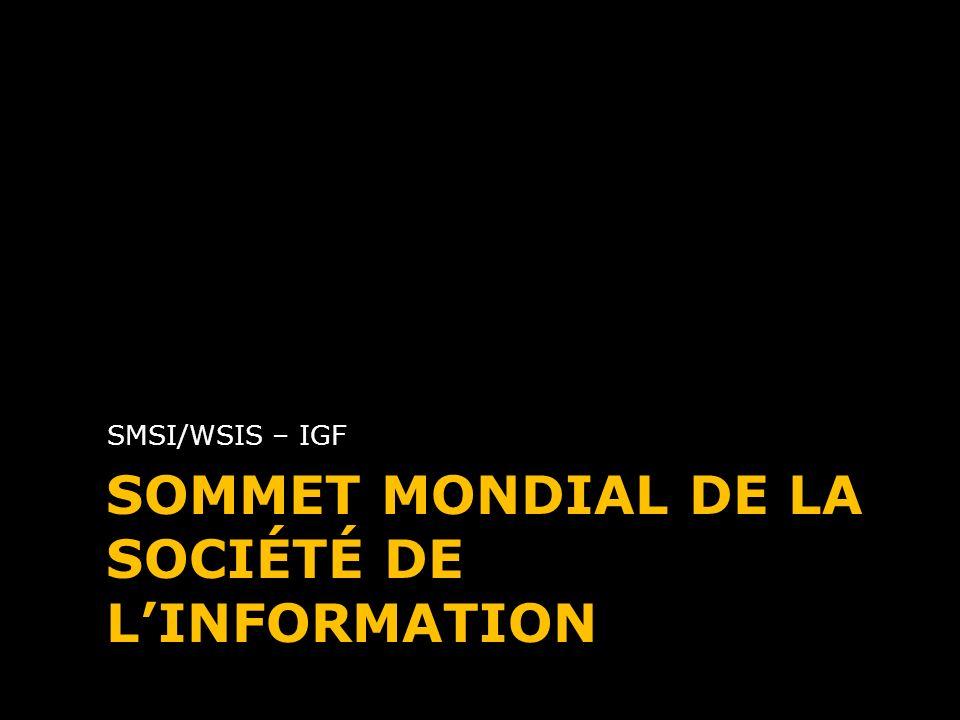 Sommet Mondial de la Société de l'Information